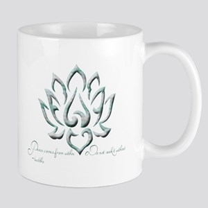 Buddha Lotus Flower Peace quote Mug