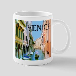 Gondolier in Canal in Venice Mugs