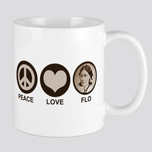 Peace Love Flo Mug