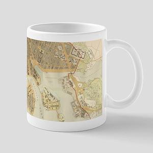 Vintage Map of Stockholm (1899) Mugs