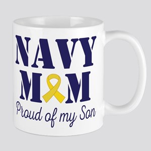 Navy Mom Proud Son Mugs