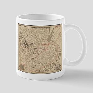 Vintage Map of Downtown Boston MA (1911) Mugs