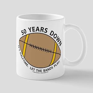 50th Birthday Football Mug