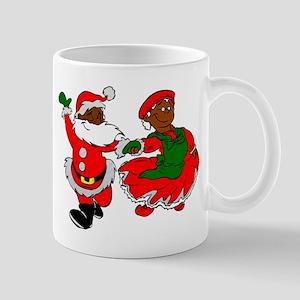 black santa mrs claus Mugs