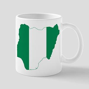 Nigeria Flag and Map Mug