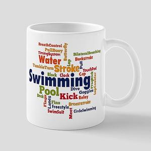 Swimming Word Cloud Mugs