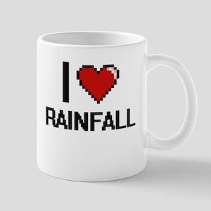 I Love Rainfall Digital Design Mugs