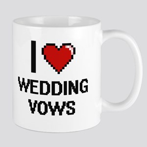 I love Wedding Vows digital design Mugs
