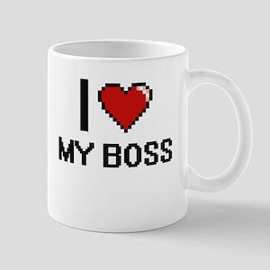 I love My Boss digital design Mugs