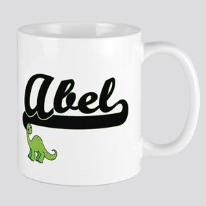 Abel Classic Name Design with Dinosaur Mugs