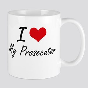 I Love My Prosecutor Mugs
