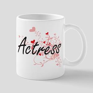 Actress Artistic Job Design with Hearts Mugs