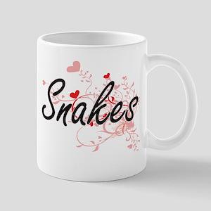 Snakes Heart Design Mugs