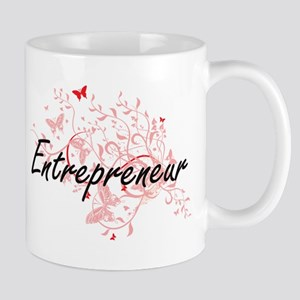 Entrepreneur Artistic Job Design with Butterf Mugs