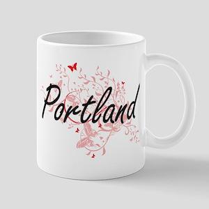 Portland Oregon City Artistic design with but Mugs