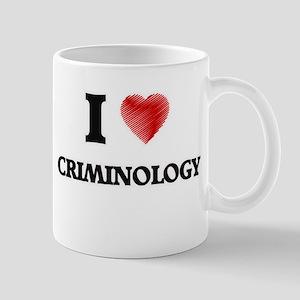 I Love Criminology Mugs