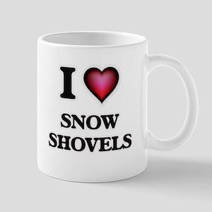 I love Snow Shovels Mugs