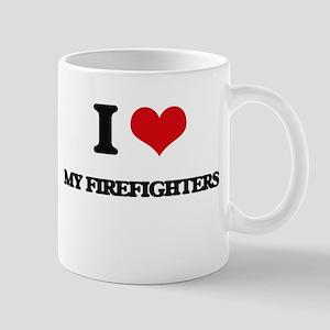 I Love My Firefighters Mugs