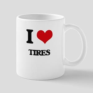 I Love Tires Mugs