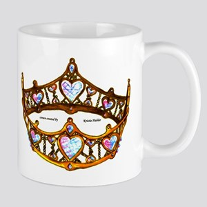 Queen of Hearts gold metal crown tiara Mugs