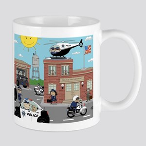 POLICE DEPARTMENT SCENE Mug