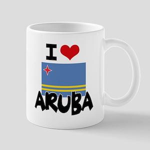 I HEART ARUBA FLAG Mug