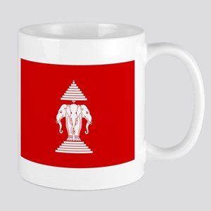 Lao / Laos Erawan Three Headed Elephant Flag Mug