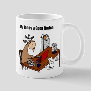 Funny Goat Rodeo Job Humor Mugs