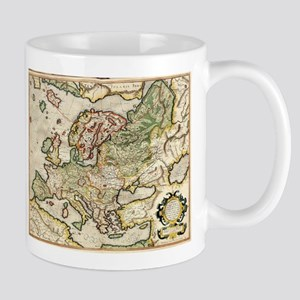 Vintage Map of Europe (1596) Mugs