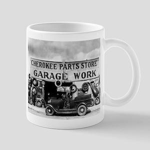 Cherokee Parts Store Depression Vintage Garag Mugs
