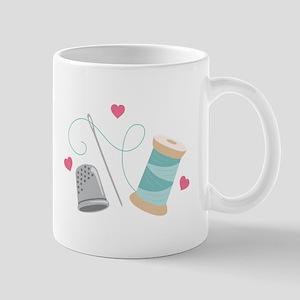 Heart Sewing supplies Mugs