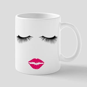 Lipstick and Eyelashes Mugs