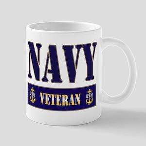 Navy Veteran Block Mug