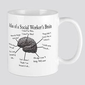 Atlas of a Social workers brain Mugs