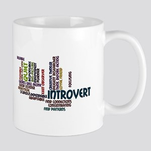 Introvert Strengths Word Cloud 2 Mug