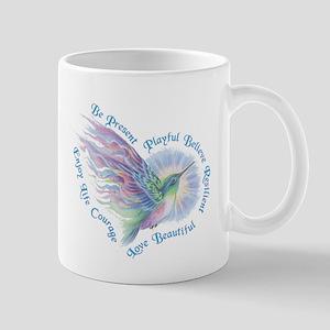 Hummingbird Heart Art Mug