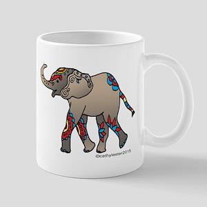 Zentangle Elephant Mug