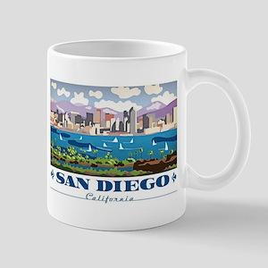San Diego Skyline Mugs