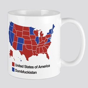 Map of Dumbfuckistan Mugs