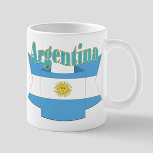 Ribbon Argentina Flag Mug Mugs
