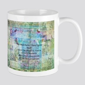 alive in wonderland quote Mugs