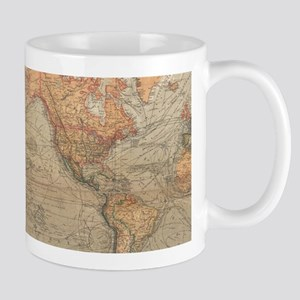 Vintage Map of The World (1870) Mugs