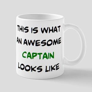 awesome captain 11 oz Ceramic Mug
