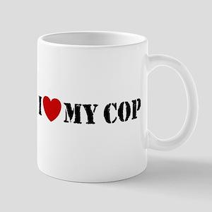 I Love My Cop Mug