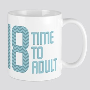 Time to Adult Blue Mug