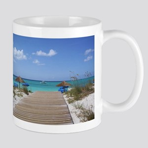 Caribbean boardwalk Mug