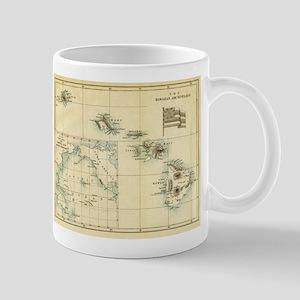 Antique Hawaii Map Mug
