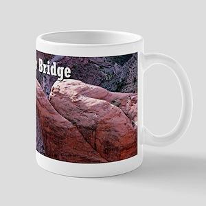 Rainbow Bridge, Utah, from air (caption) Mugs