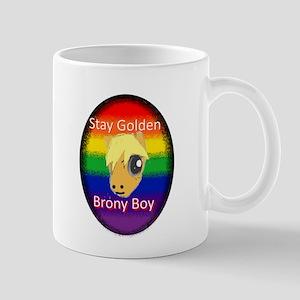 Stay Golden Brony Boy Mugs