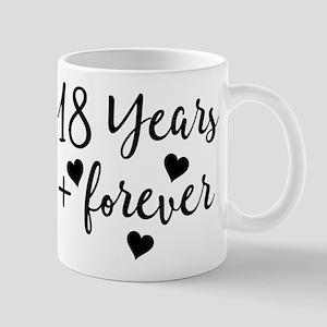 18th Anniversary Couples Gift Mugs